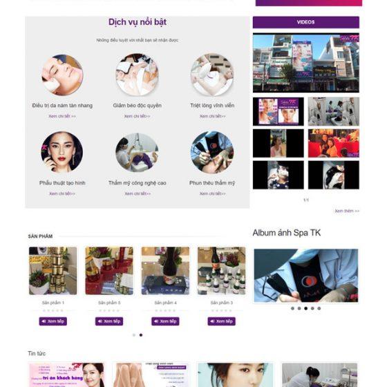 giao diện website spa tk quảng ngãi